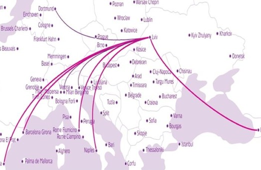 Wizz Air Ukraine  з квітня наступного року відкриє п'ять нових напрямків зі Львова
