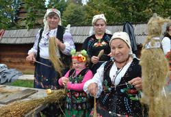 Жінки з Городоцького району за веретеном