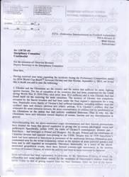 ФФУ сама запропонувала FIFA дискваліфікацію Арени Львів (ДОКУМЕНТ)