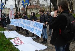 Студенти послали губернатора Львівщини до дупи