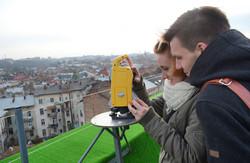 Геодезична лабораторія на даху Львівської політехніки