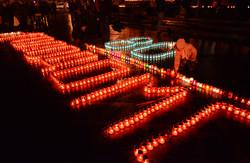В пам'ять про жертв Голодомору у Львові запалили тисячі лампадок