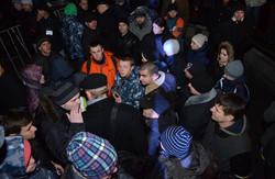 На львівському Євромайдані сталася сутичка (ВІДЕО)