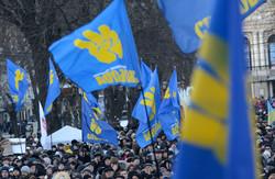 Євромайдан у Львові заполонила символіка ВО «Свобода» (ФОТО)