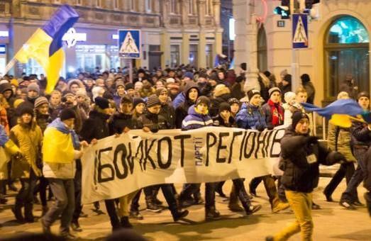 Львівські регіонали просять Євромайдан не застосовувати до них «більшовицькі» методи