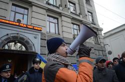 У Львові студенти пікетували обласне управління міліції проти репресій (ФОТО, ВІДЕО)