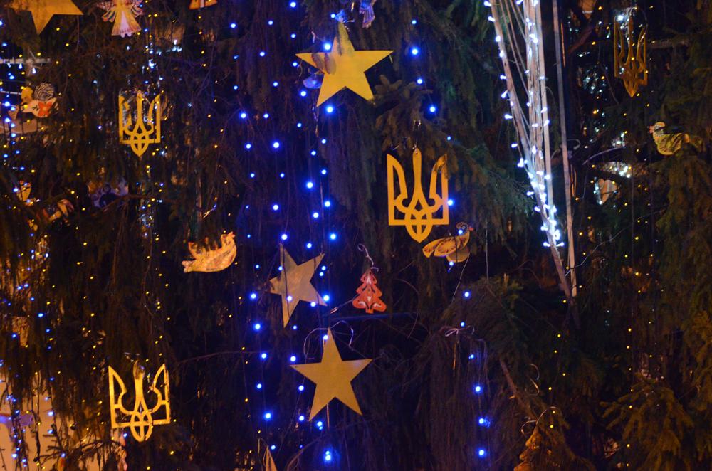на центральній новорічній ялинці Львова