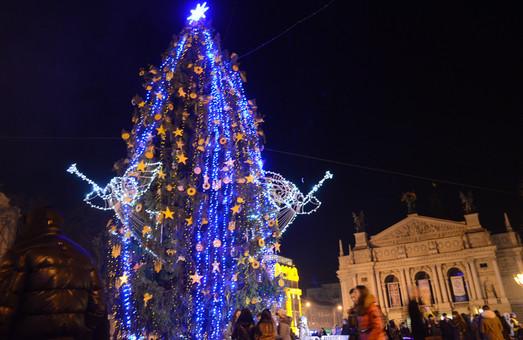 У Львові урочисто відкрили новорічну ялинку-антийолку