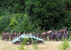Біля села Червоне, що на Львівщині, відбулось перепоховання кісток вояків дивізії «Галичина»