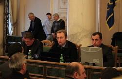 Львівська обласна рада - Верховній  зРаді:  як вам можна руками голосувати, то і нам теж