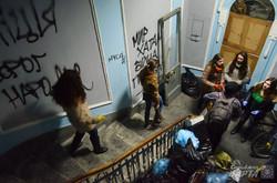 Після ночі погромів у Львові розпочали прибирання (ФОТО)