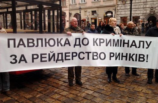 Торговці Львова збунтувались. У рейдерстві звинуватили «свободівця» та адміністрацію ринків