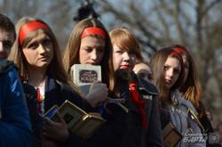 На Євромайдані у Львові прочитали хором поезії Тараса Шевченка (ФОТО)