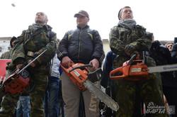 У Львові «Правий сектор» протестував проти вирубки Снопківського парку (ФОТО)
