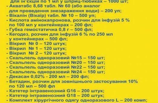 Львів збирає необхідні ліки для воїнів АТО