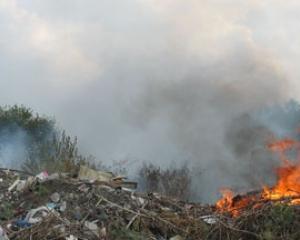 На Львівщині масово горить сміття