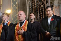 Михаїл Саакашвілі у Львові помолився за територіальну цілісність України та Грузії (ФОТО)