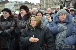 На Львівському Євромайдані відзначили річницю Революції Гідності (ФОТО)