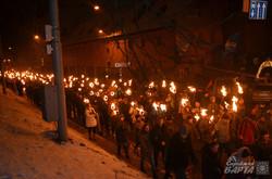 Львовом пройшов смолоскипний марш пам'яті Степана Бандери (ФОТО)