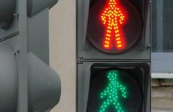 У центрі Львова з`явився новий світлофор для пішоходів