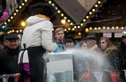 У Львові розпочався конкурс льодових скульптур (ФОТО)