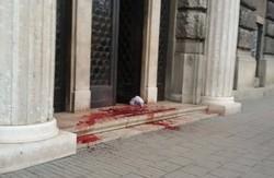 Львівську прокуратуру скропили кров`ю
