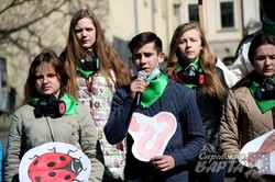 """У Львові пройшов флешмоб """"Ні підпалам!"""" (ФОТО)"""