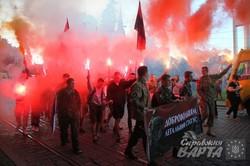 У Львові Правий Сектор пройшов запальним маршем (ФОТО)