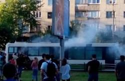 Під час руху у Львові загорілась маршрутка №31