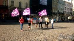 """Активісти ГО """"Свідомі"""" протестують проти незаконної забудови у львівському парку """"Залізні води"""" (ФОТО)"""