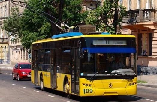 Тролейбус №11 перестав курсувати Львовом