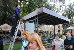 У Львові відкрили першу в Україні зелену зупинку (ФОТО)