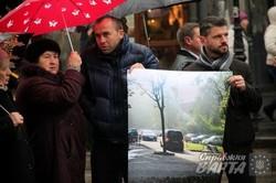 Під вікнами львівської ратуші відбувся пікет мешканців вул. Караджича (ФОТО)