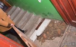 На сходовій клітці будинку по вул. Стрийська 148а