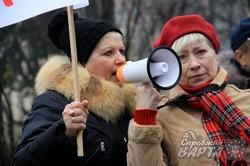 У Львові хворі на хронічну ниркову недостатність знову вийшли на пікет (ФОТО)