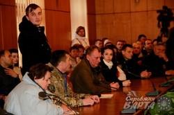 Учасники АТО та їхні сім`ї пікетують ЛОДА (ФОТО)