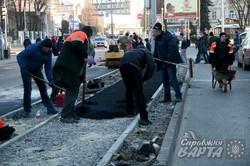 Облаштування велосипедної дороги на проспекті Чорновола йде повним ходом (ФОТО)
