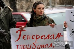 У Львові активісти вимагали від влади рівних прав для жінок у Збройних силах України (ФОТО)