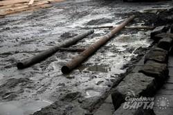 Через впорядкування котлавану ремонті роботи на вул.Мечнікова ускладнюються (ФОТО)