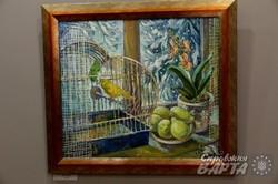 """У """"Зеленій канапі"""" презентували виставку Ірини Фартух """"Синя птаха"""" (ФОТО)"""