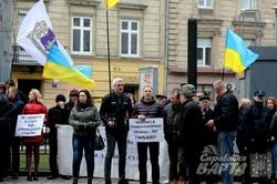 У Львові під апеляційним судом підприємці влаштували повторний пікет (ФОТО)