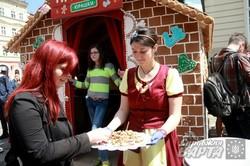 У Львові до Дня міста встановили рекорд України з будівництва будиночків з пряників (ФОТО)