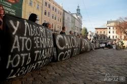 У Львові люди вийшли на безстрокову акцію протесту: влада не виконує обіцянок по наданню земельних ділянок воїнам АТО (ФОТО)