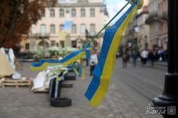 Під стінами львівської ратуші триває безстроковий страйк (ФОТО)