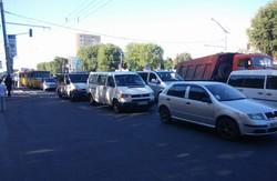 На Стрийській затор через аварію