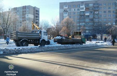 Львівські патрульні оштрафували підрядника за перекриту дорогу