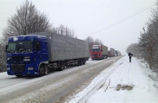 Ускладнений рух на трасі Львів-Івано-Франківськ