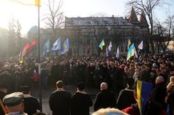 Новий 2017 рік у Львові розпочався з Бандери (ФОТО)