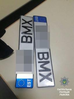 Львівські поліцейські втретє затримали крадія номерних знаків
