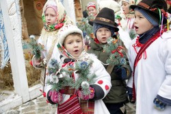 У Львові встановили велетенського Різдвяного Дідуха (ФОТО)